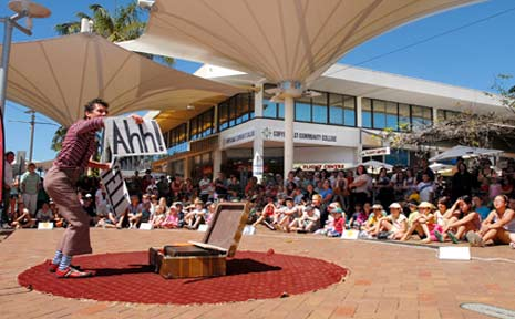 The Coffs Coast Buskers and Comedy Festival got off to a great start.