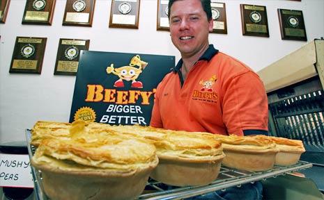 Mark Hobb director of Beefy's Pies has taken out the 2008 Queensland best meat pie.