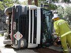 Obi Obi truck rollover scare