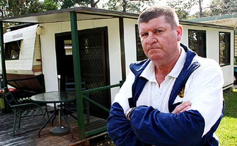 Bill Ryan is angry that his site at Sawtell Beach Caravan Park won't go to his grandkids.