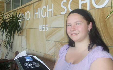Danielle Carroll, 20, of Casino starts her HSC exams today - for the second time.