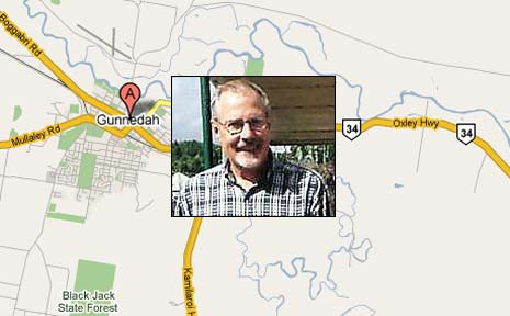 John Oxland has disappeared and is believed to have travelled west.