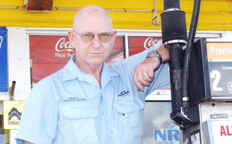 Evans Head service station owner Doug Behn, who warns that independent operators are struggling to compete against the big wholesalers.