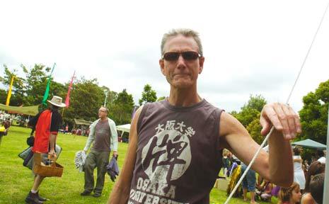 Gary Haughton at Federal Park Party on Saturday.