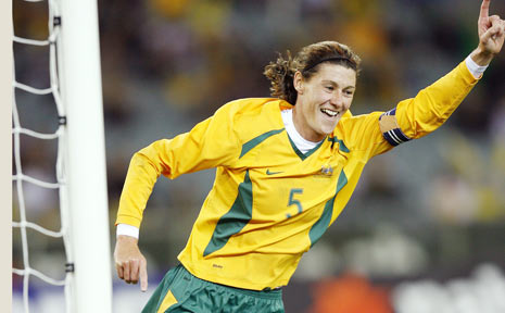 SEASONED PERFORMER: Cheryl Salisbury celebrates after scoring a goal for the Matildas against Mexico in Melbourne two years ago. The national team captain will lead the Newcastle Jets in their W-League game against the Queensland Roar at Oakes Oval, Lismo