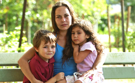 Sarah Ashworth, with children Kai, 6, and Sarabi, 3, fears she could be left homeless after being put on a rental blacklist.