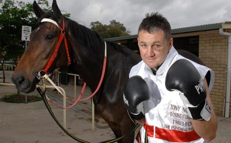 Boyd works as a stablehand at Danny Bowen's stables at Ballina racecourse.