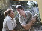 Steve Irwin Day at Australia Zoo: A picture of Steve Irwin with his Mum Lyn. Photo: Cade Mooney/179456
