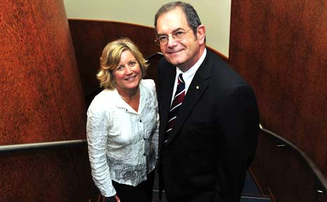 Professor Graham Martin pictured with CEO of United Synergies Sue Scheinpflug.
