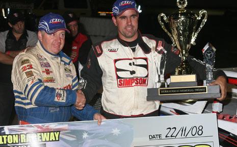 Australia's leading two super sedan drivers, national champion Jamie McHugh and Matt Pascoe.