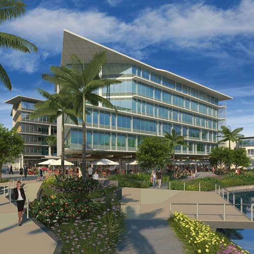 An artist's impression of the proposed 2.3 hectare Emporio project at Maroochy Boulevard.