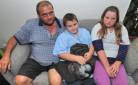 Family in need (l-r): Greg, Dylan and Hayley Wilkinson.
