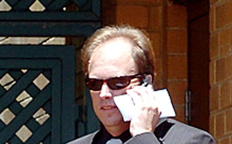 Peter Fraser outside Lismore court yesterday.