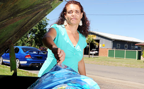 Leigh-Ann Torrens, of Casino, threw her inflatable pool in the bin after realising it had to be fenced, and was also a safety hazard.