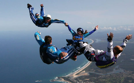 The Coffs Harbor City Skydivers team.