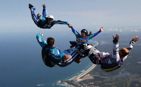The Coffs Harbor City Skydivers team.