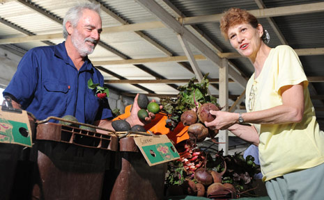 Daid Roby and Christine Raward at the Lismore markets.