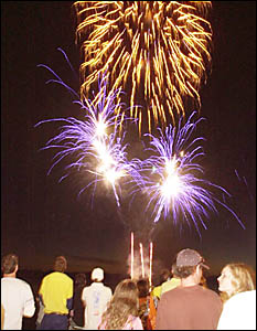 RIVER LIGHTS UP: Another huge crowd came along to Fawcett Park last Sunday to see the fireworks show which was the finale to Ri