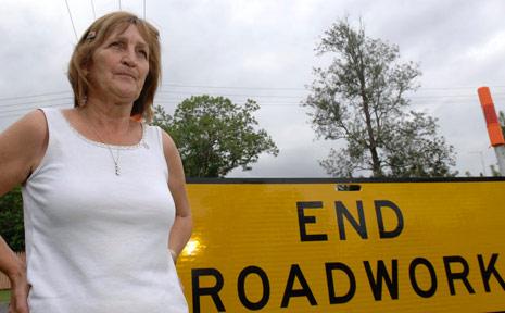 Dibbs Street resident Margaret Langley is upset the roadworks aren't complete.