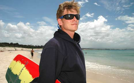 Byron Bay kite surfing instructor Stephan Kleinlein.