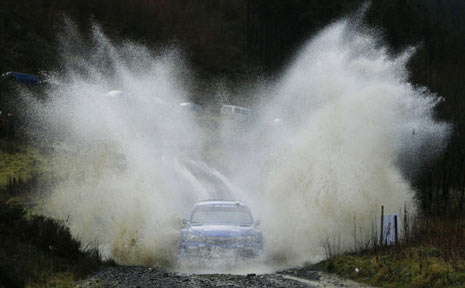 Australia's Chris Atkinson during the Wales leg of the World Rally Championship earlier this month.