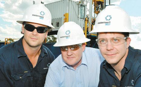 Easternwell employees Tony Preston, Marco Waanders and Dave Bull.