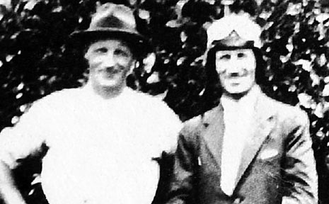 PROPERTY owner George Minnis and Smithy.