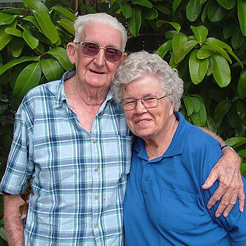 Norm 'Bill' Upton and wife Myrtle celebrated 60 years of marriage in 2006. Photo: Mike Garry/scw1268