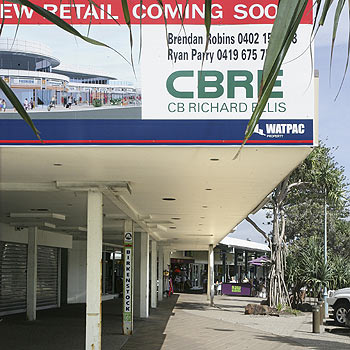 The countdown is on for the demolition of the Coolum esplanade shops. Photo: Mike Garry/scw1268a