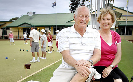 HARD TIMES: Self-funded retirees Ian and Shirley Whitehall, of Lennox Head, at the Lennox Head Bowls and Sports Club.