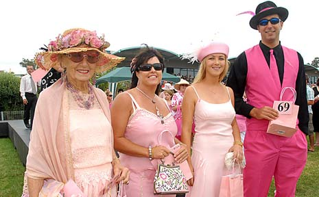 Some of the crowd at the 2007 Pink Silks Raceday.