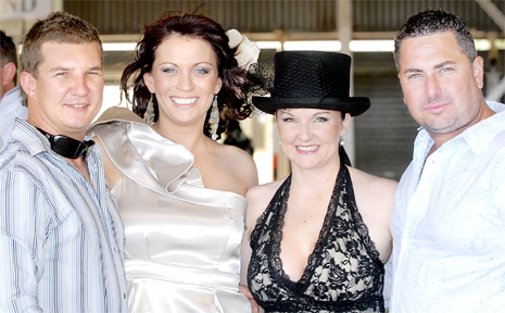 Neil Wicks and Emily Wicks, left, with Sharleen Caruana and Kyle Caruana at Ooralea at the weekend.
