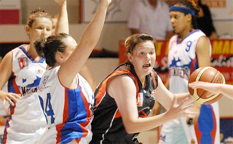 Jacqui Zelenka looms as a potent force for the Mackay Meteorettes basketball team.