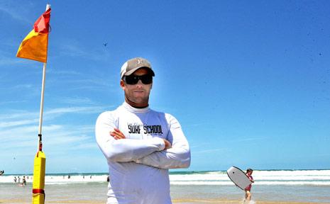 Coffs Harbour surfing instructor cum impromptu life saver, Lee Winkler.