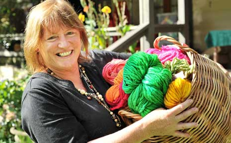 Hand made designer yarns will be on show at the the Fibre Art Summer Exhibition.