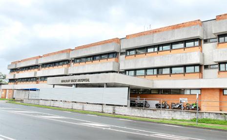 The main Mackay Base Hospital building on Bridge Road