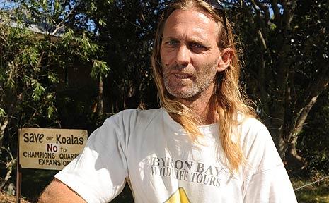 Mark Richardson, of Byron Bay Wildlife Tours.