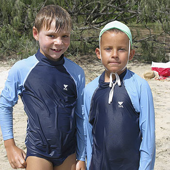 Peregian nippers Bailey Ghent and William Moore.