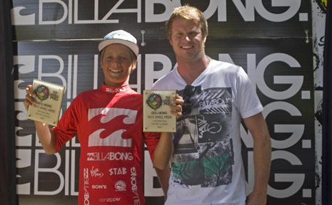 Soli is pictured with world number three surfer and event namesake Taj Burrow.