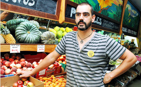 BIG BUSINESS: Mullumbimby fruit shop owner Paul Medeiros fears that local 'corner shops' will be eaten up by a new Woolworths supermarket that has been given the go-ahead by the NSW Government.