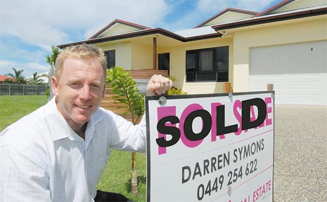 Vision Real Estate's Darren Symons along with others in the real estate industry have been enjoying a busy time as first-home buyers buoy the market.