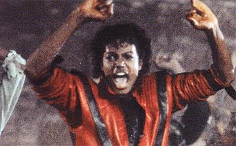 Michael Jackson in Thriller.