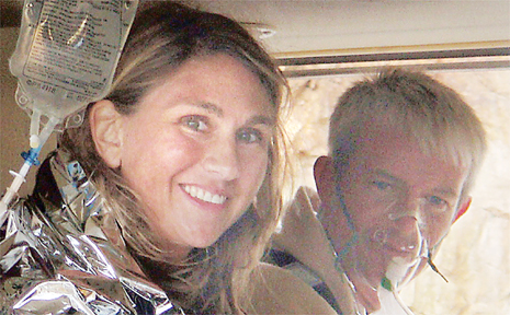 Allyson Dalton, 40, and Richard Neely, 38, were left stranded off Bait Reef in the Whitsundays by a dive operator.