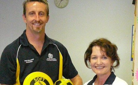 ON THE BALL: The Australian Sports Commission's Matt Kelso and Julia Hunt, who are co-ordinating the Active After School program this year.