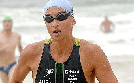Hayley Lewis at Yamba's Convent to Main Beach Ocean Swim.