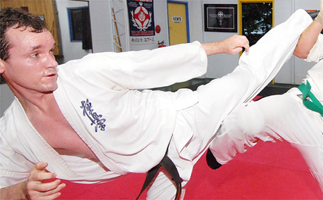 Kyoshin karate fighter Jason Crimmin, who is ranked in the world top 24, is among the athletes vying for tonight's Red Rooster Sports Star of the Year awards.