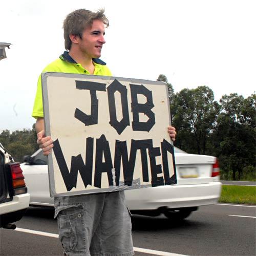 Alistair Lake and his roadside job application.