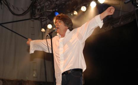 Jim Keays on stage.