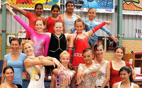 Members of the Coffs Harbour PCYC circus course.