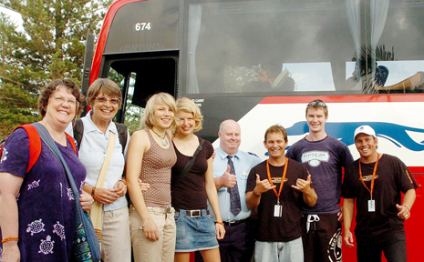 Greyhound Australia's first morning drop off at Yamba included four international travellers from the USA and Germany.